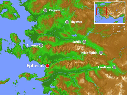 Ephesus was famed for the Temple of Artemis  (completed around 550 BC), one of the seven wonders of the world. It had a theatre capable of holding 25,000 spectators. – Slide 7