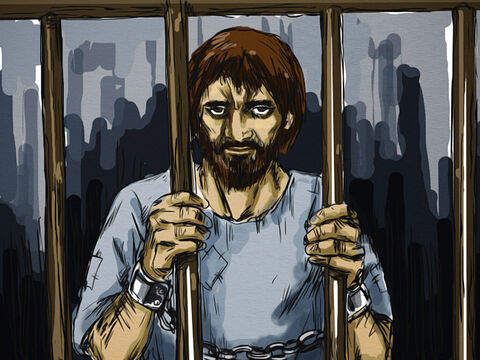 At the time Jesus was arrested and falsely accused by the Jewish leaders, a man called Barabbas was in prison. He was leaders of a group of rebels who started an uprising in the city in which several people were murdered. His sentence was death. – Slide 1