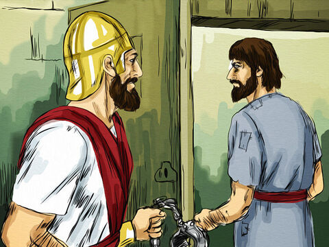 Barabbas was released from prison and handed over to the crowd. Instead of facing a death sentence he was set free. – Slide 8
