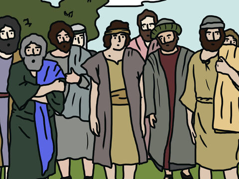 The Lord told Moses to select a leader from each of the 12 tribes to go and spy out the land ahead. Moses chose a leader from each tribe. (Their names were Shammua, Shaphat, Caleb, Igal, Joshua, Palti, Gaddiel, Gaddi, Ammiel, Sethur, Nahbi and Geuel). – Slide 2