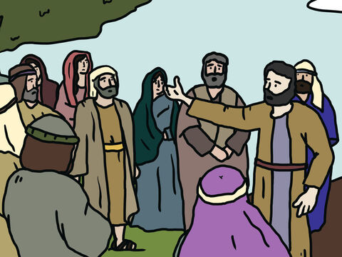 After 40 days, they returned to their camp. They reported, 'The land does flow with milk and honey! Here is its fruit. But the people who live there are powerful, and the cities are large and fortified. – Slide 9