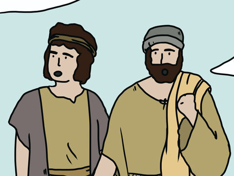 Moses and Aaron fell face down in front of everyone. Two of the spies, Joshua and Caleb, stood up and said, 'The land we explored is exceedingly good. The Lord will lead us into that land flowing with milk and honey, and give it to us. Don't rebel against God or be afraid. The Lord is with us not them.' – Slide 13