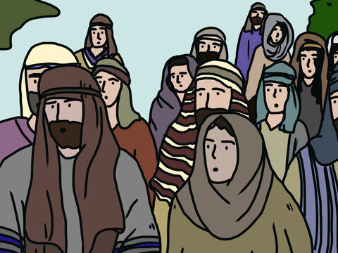 The Lord told Moses, 'How long will these people refuse to believe in me, in spite of all the miracles I have performed among them?' <br/>God told Moses He would punish their rebellion by keeping them in the wilderness for 40 years, one year for each day the spies had been in Canaan. – Slide 14