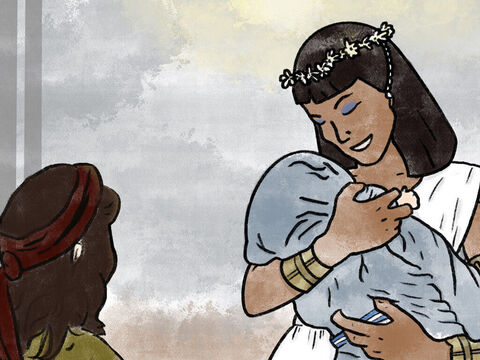 Miriam approached the princess and asked her, 'Shall I go and find one of the Hebrew women to nurse the baby for you?' – Slide 9
