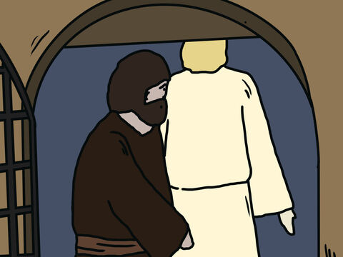 Peter followed him out of the prison, but he had no idea that what the angel was doing was really happening. He thought he was seeing a vision. They passed the first and second guards and came to the iron gate leading to the city. It opened for them by itself, and they went through it. – Slide 8