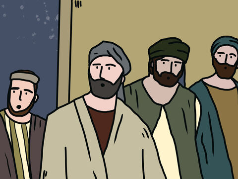 Peter motioned with his hand for them to be quiet and described how the Lord had brought him out of prison. – Slide 14