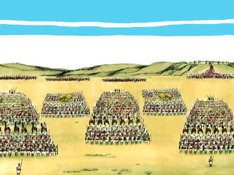 When Jeroboam learnt that Abijah had taken over as King he assembled an army of 800,000 fighting men. – Slide 5