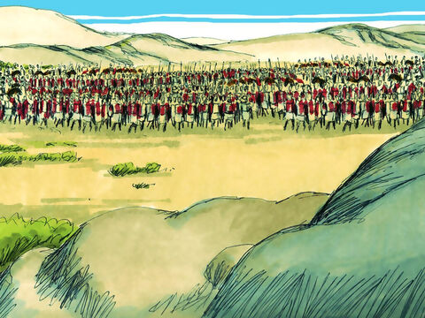 Abijah could only gather half that number in his army – 400,000 fighters. – Slide 6
