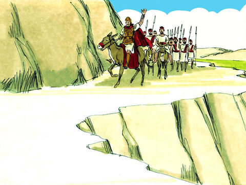 Abijar led his army north to defend his border. – Slide 7
