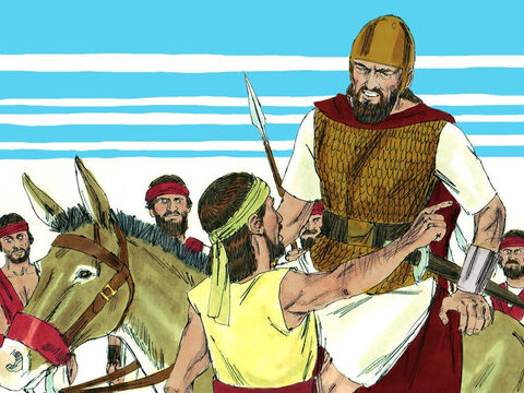 Jeroboam had cunningly sent some of his troops round behind the army of Judah to set an ambush. King Abijar and his soldiers were not only outnumbered but trapped. They were about to be attacked from the front and from the rear. – Slide 14