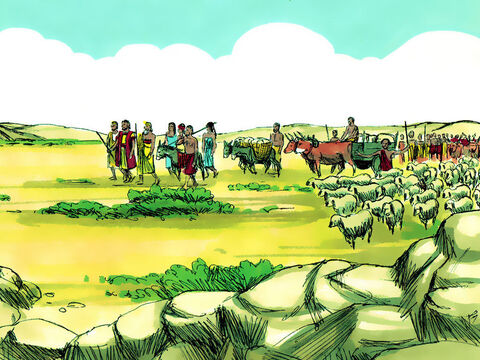 Genesis 11 v 27-32 Abram obeyed and set off with his wife Sarai, his father Terah and his nephew Lot. – Slide 3