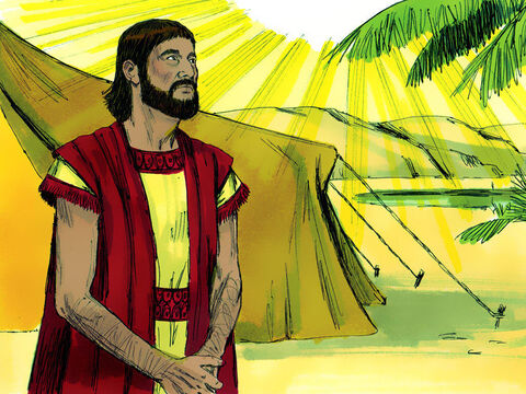 Genesis 12 v 4 v 9 By now Abram was 75 years old. God told him to continue on his journey to the land of Canaan. – Slide 5