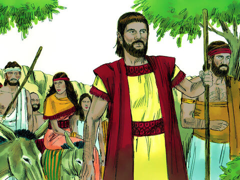 Abraham obeyed and they travelled south into the land of the Canaanites. – Slide 6