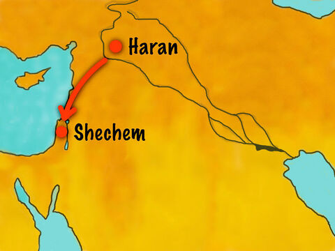 They came to a great tree at Shechem and settled there. – Slide 7
