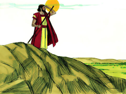 God told Abram, 'I will give this land to your offspring.' – Slide 8