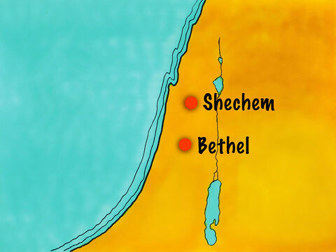 Abram and those with him then moved south to Bethel. – Slide 10