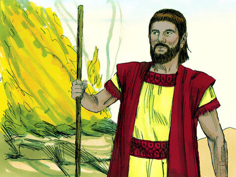 Once he arrived he built an altar to God in honour of His name. – Slide 11