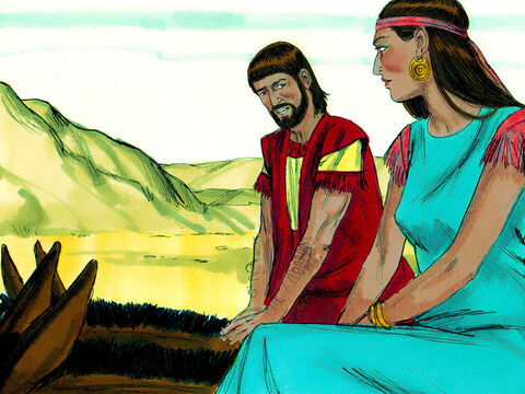 As they entered Egypt Abram became worried. His wife Sarai was very beautiful. He feared that Pharaoh might kill him so he could take Sarai as his wife. So, he told Sarai to pretend she was not his wife but his sister. – Slide 14