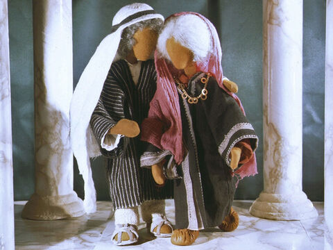 So Abram and Sarai left the palace. They were told they could keep all the gifts Pharaoh had given them and they travelled back to the land God had given them. – Slide 10