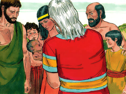 Abraham had become so desperate to have an heir that he had a son, Ishmael, by Sarah's servant Hagar. God promised that Ishmael's descendants would become a large nation too. When God said Abraham would a son by Sarah, Abraham had laughed to himself as he was so old. (Genesis 16, 17:15-22 ). – Slide 2