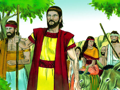 Abram and his nephew Lot, their families, flocks and herds settled in Bethel in Canaan, living alongside the local Canaanite tribes. Abraham had become very wealthy in livestock plus silver and gold. – Slide 1