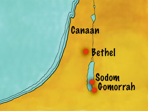 However, the people living in this area were very disobedient. Two cities in particular, Sodom and Gomorrah, were full of wickedness. But Lot chose this rich, fertile area as the best place for his family to live. – Slide 8