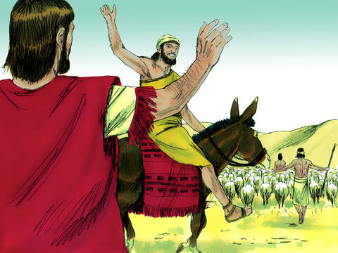 So Lot, his family and his flocks and herds moved off east to live in the plain of Jordan. They pitched their tents near the city of Sodom. – Slide 9