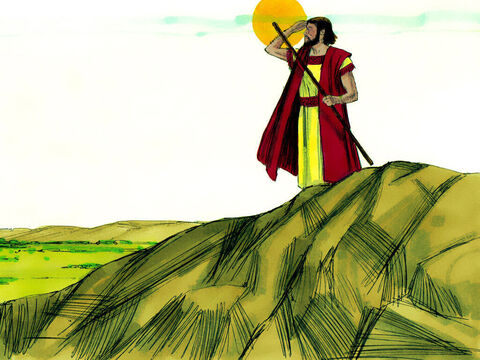 When Lot had gone, the Lord spoke to Abram: 'Look all around you. All the land you see is for you and your offspring forever. – Slide 10