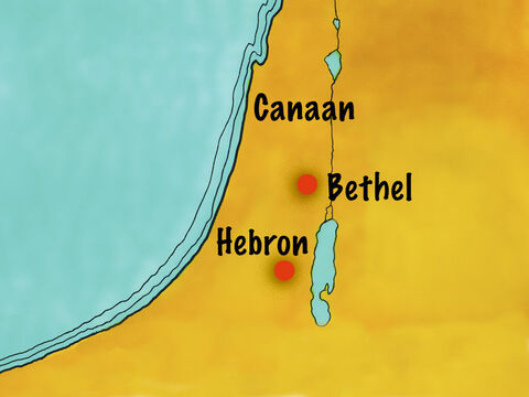 Abram moved west of where Lot had settled in an area called Hebron. – Slide 12