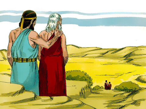Abraham remained standing with the Lord. – Slide 12