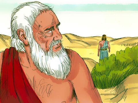 The Lord then left and Abraham returned to his tent. – Slide 22
