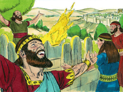 King Ahaz (735-715 AD) became King of Judah at the age of 20. He turned his back on God to worship Baal and other false gods instead. Others in the nation followed his wicked example. – Slide 1
