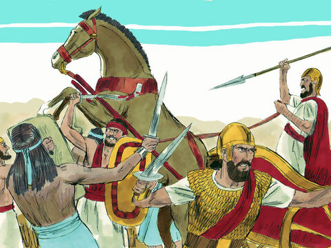 In one day of fighting, the armies of Israel and Aram killed 120,000 of Judah's troops. – Slide 4