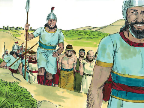 King Ahaz survived the battle, but a large number of people were captured and deported back to Damascus in the land of Aram. – Slide 6