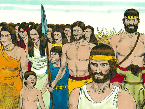 It did not matter that the women and children prisoners were fellow Jews. The army of Israel planned to take them back to Samaria in Israel to sell them as slaves. They also intended to steal their animals and treasures. – Slide 8