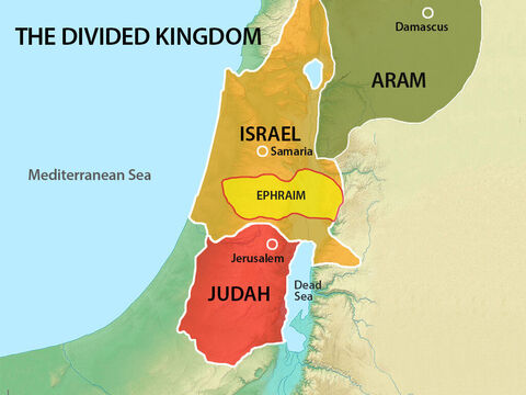 On the trip north the captives had to pass through the land belonging to the tribe of Ephraim. – Slide 11
