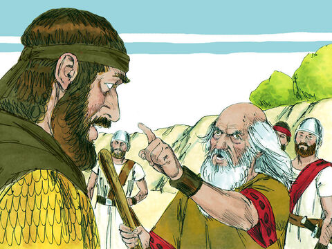 'Look' he exclaimed. 'The Lord God was angry with Judah and let you capture them, but you have butchered them without mercy, and all heaven is disturbed. – Slide 14