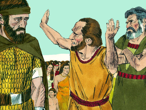 Some of the top leaders of Ephraim spoke out and supported Oded. These men were Azariah, Berechiah, Jehizkiah, and Amasa. – Slide 16