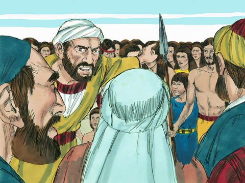 'You must not bring the captives here!' they declared. 'If you do, the Lord will be angry, and this sin will be added to our many others. We are in enough trouble with God as it is.' – Slide 17