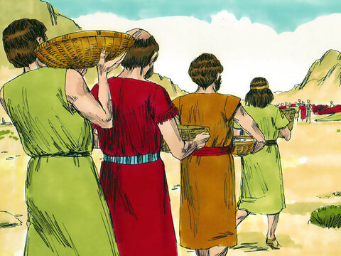 Amazingly, the army officers turned over the captives and booty to the tribe leaders to decide what to do. The four men immediately distributed captured stores of food and drink to the women and children – Slide 18
