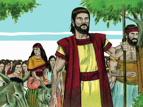 Then they put the elderly and sick on donkeys and led the prisoners back to Judah with an armed escort. – Slide 20