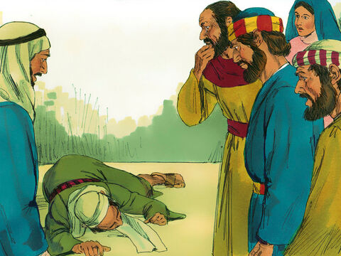 When Ananias heard this he fell to the ground and died. Some young men wrapped up his body, carried him out and buried him. When others heard what had happened they were very afraid. – Slide 4