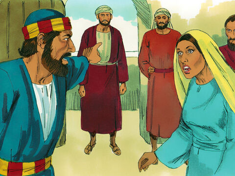 'How could you both agree to deceive the Lord?' Peter demanded. 'The men who have just buried Ananias are at the door and they will carry you out as well.' – Slide 7
