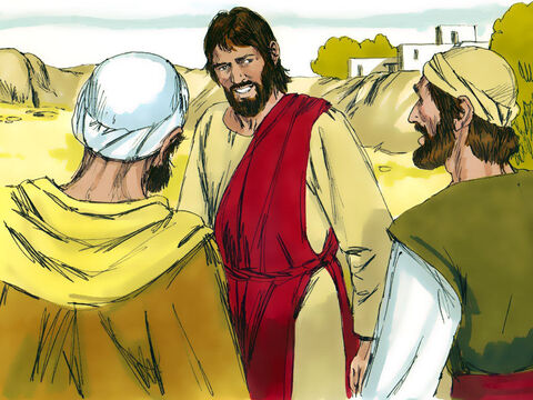 The two disciples with John immediately followed after Jesus.Jesus turned and saw them following. 'What do you want?' He asked them.'Sir,' they replied, 'where are you staying?''Come and see,' Jesus said. – Slide 3
