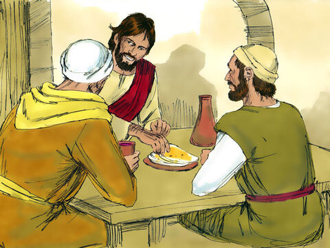 So they followed Jesus to the place He was staying and talked with him from about four o'clock that afternoon until the evening. One of the men was Andrew the brother of Simon (later called Peter) – Slide 4