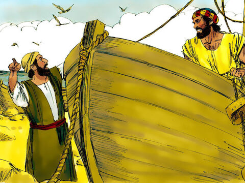 Andrew then went to find his brother Simon and told him, 'We have found the Messiah!' And he brought Simon to meet Jesus. – Slide 5