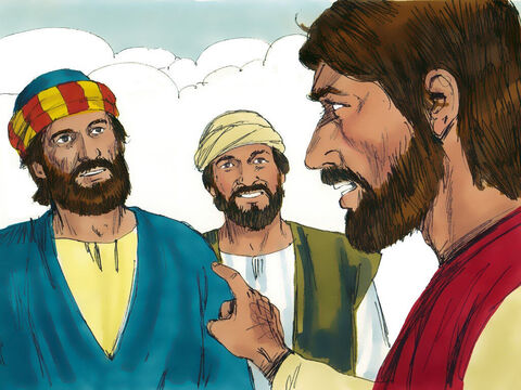 "Jesus looked intently at Simon and then said, 'You are Simon but you shall be called Peter, the rock!"" – Slide 6"