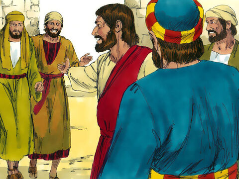 As they approached, Jesus said, 'Here comes an honest man—a true son of Israel.' – Slide 11