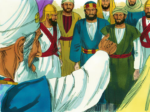 'We gave you strict orders not to teach in the name of Jesus,' the High Priest fumed. 'You have filled the city with your teaching and are determined to make us guilty for the death of Jesus.' – Slide 6