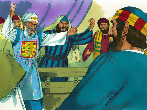 When the Jewish leaders heard this they were so furious they wanted to put the Apostles to death. – Slide 8